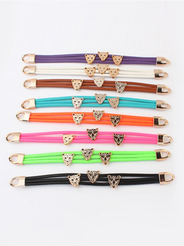 Occident Candy colors Summer All-match Leopard head Hot Sale Armbänder
