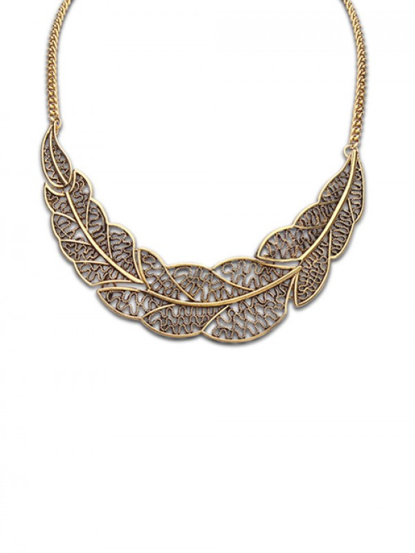 Occident Foreign Orders Simple Hollow Tree Leaf Hot Sale Halskette